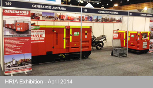 Generators Australia at HRIA Exhibition - April 2014
