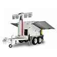 Solar Powered LED Lighting Tower - Double Axle