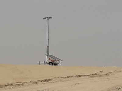 Solar Lighting Towers in the Middle East