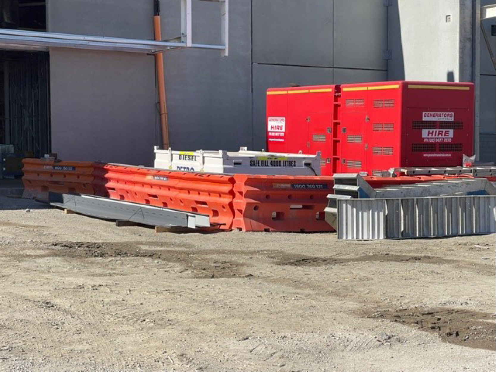 Powering an off grid construction site