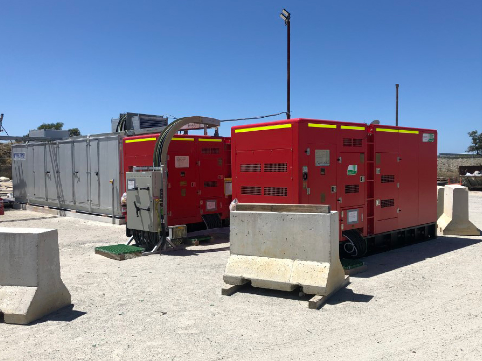 Powering underground remote freezers