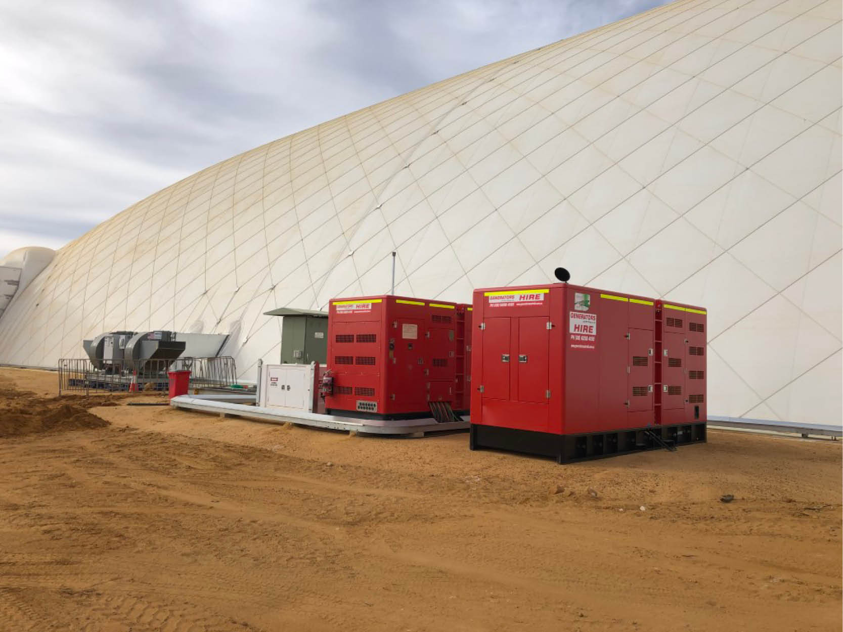 Powering a dome on the renox mine site