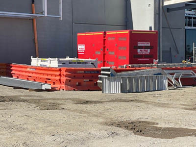 Powering a large construction site in Sydney